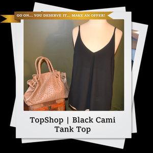 EUC | TOPSHOP Semi Sheer Black Cami Tank Top